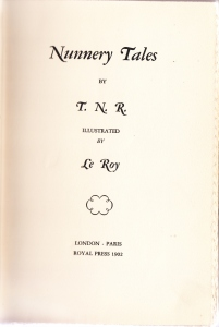 Nunnery Tales 1902 Title Page