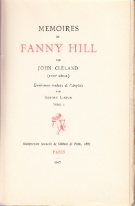 Memoires de Fanny Hill 1907 Volume 1