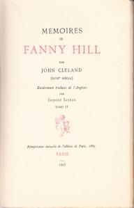 Memoires de Fanny Hill Liseux 1907 Title Page Vol 2