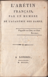 L'Aretin Title Page