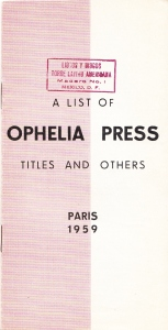 Ophelia 59 Cover