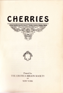 Cherries. Erotica Biblion Society