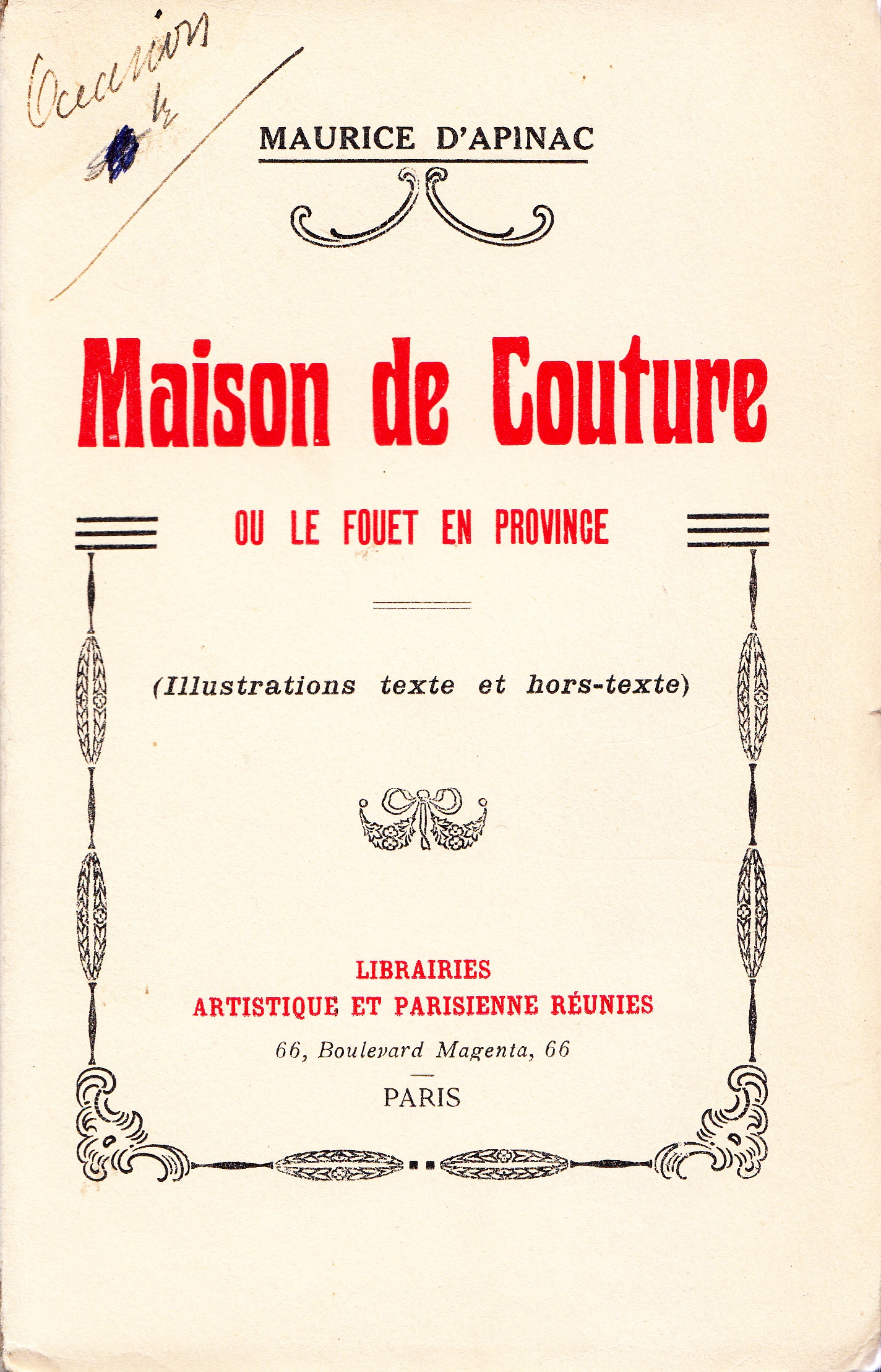 Books for trade maurice d apinac maison de couture ou le for Ayzel maison de couture