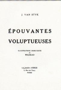 Epouvantes Voluptueuses Wighead 1935