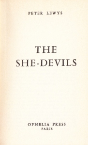 The She Devils Ophelia Press Paris 1965_0004