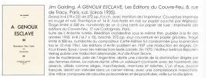 A Genoux Esclave Les Editions du Couvre-Feu Wighead