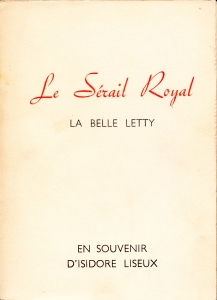 Le Serail Royal La Belle Letty Losfeld_0001