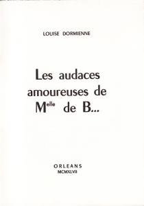 Les Audaces  amoureuses de Melle de B.. Losfeld_0003