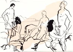 Les Audaces  amoureuses de Melle de B.. Losfeld_0017