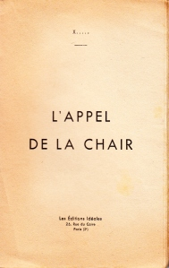 L'Appel de la Chair Editions ideales 1934_0002