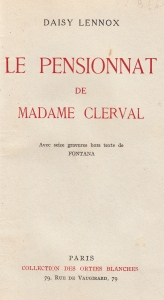 Le Pensionnat de Madame Cerval Orties Blanches 1933_0001