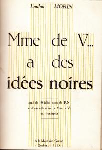 mme de V... a des Idees Noires Losfeld 1955