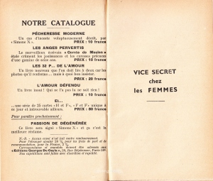 Vice Secret Georges Du Cayla 1935_0002