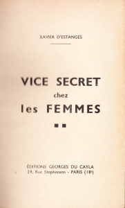 Vice Secret Georges Du Cayla 1935_0003